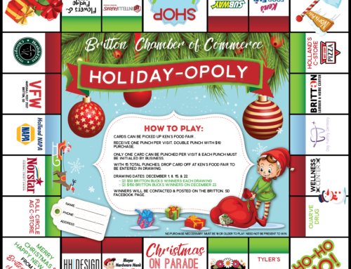 Britton Area Chamber Holiday-Opoly Christmas Promotion