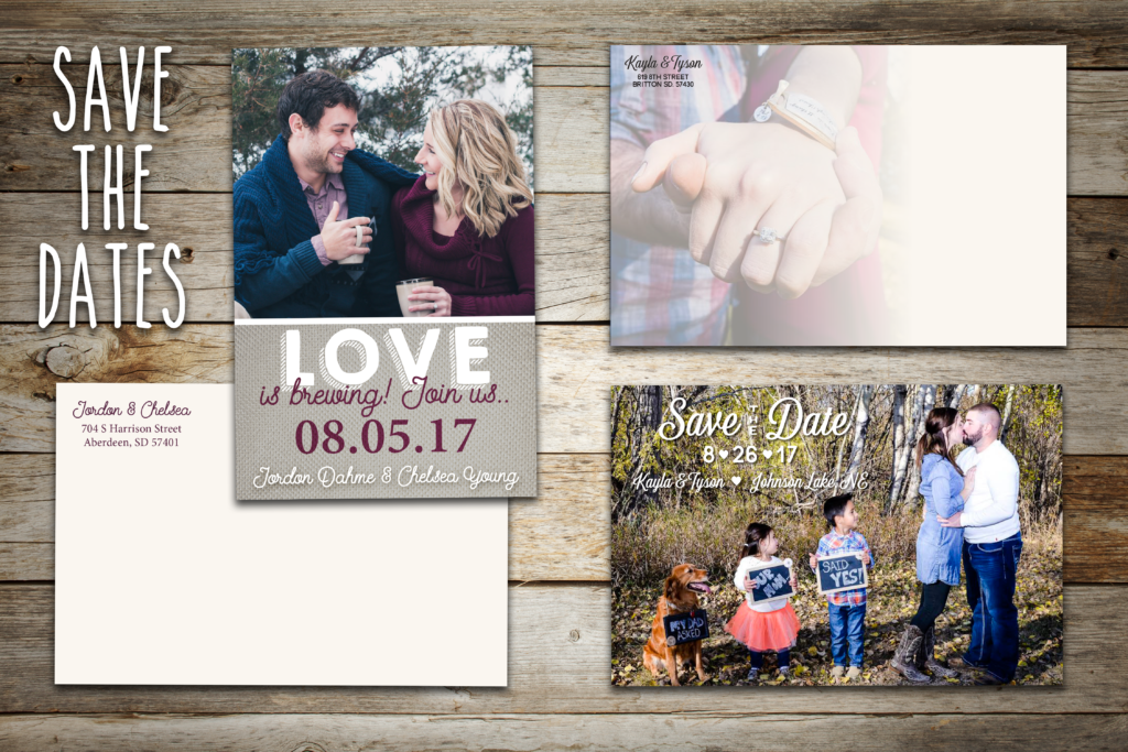 Save-the-Date mockups